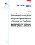 Datos personales, soluciones colectivas