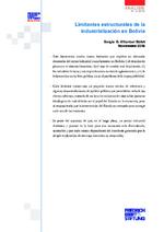 Limitantes estructurales de la industrialización en Bolivia