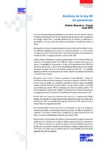 Análisis de la ley 65 de pensiones