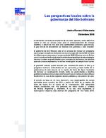 Las perspectivas locales sobre la gobernanza del litio boliviano