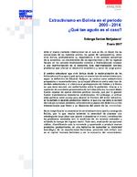 Extractivismo en Bolivia en el periodo 2000-2014
