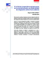 El rol de las cooperativas agropecuarias en la economía plural y su potencialidad de integración vertical hacia adelante